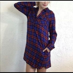 J.Crew Flannel Shirt Dress